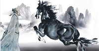 Wholesale Horse House - Custom large murals fabric wallpaper 3d wall paper sitting room b4 bedroom TV sofa background Modern, Classical Chinese style horse