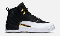 Wholesale White Lace Rhinestone Shoes - Basketball Shoes 12 Retro Wings Retro 12s 2016 the Master Sports Sneakers retros XII OVO Colorway:black metallic gold-white Men Athletics