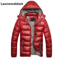 Wholesale Quilted Cotton Jacket - Wholesale- Men's Winter Jacket Padded Hooded Slim Fitness Quilted Parka Thick Warm Parka Men New Coats Zipper Cotton Coat Male 113