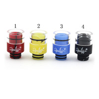 Wholesale Ego Puffs - 2016 Puffs Drip Tips 510 Glass + Acrylic Drip Tips Mouthpieces fit for RDA RBA eGo Atomizer Vaporizer electronic cigarette free