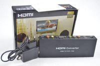 Wholesale Video Converter Ypbpr - HDMI to RGB Component YPbPr Audio Video Adapter HDMI to VGA  SPDIF RL Converter Support 5.1CH Surround Sound