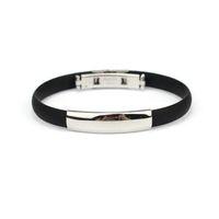 "Wholesale Men S Bracelets Steel - Wholesale-Stainless Steel Bracelets for Men Cuff Silicone Bangle Men""s Jewelry Amazing Mar 25"