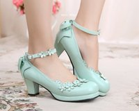 Wholesale Petal Shoes - Japanese new soft Lolita Lolita petal bow Cosplay adorable women shoes