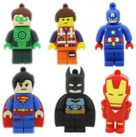 USB Flash Drive Hot Sale Pen Drive 8 Go Pendrive 16 Go 1 Go 2 Go 4 Go Superman Batman Avenger USB 2.0 Memory Stick U Disk Cartoon