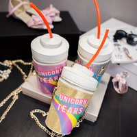 Wholesale Drinking Novelties Wholesale - Wholesale- Novelty Designer Handbags High Quality Unicorn Tears Bag Women Personalized Drink Soda Bottle Shoulder Bag