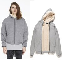 Wholesale oversized cardigans - 2018 TOP best version kanye west oversized men zipper cashmere Pullover hoodies hip hop Fashion Casual Sweatshirts Justin Bieber