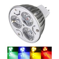 Big MR16 Promotion 3 LED Energy Saving Spotlight Down Light Accueil Lampe Ampoule DC12V Rouge / Jaune / Bleu / Vert