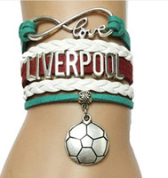 sports liverpool - Drop delivery Infinity Love Liverpool Soccer Bracelet England Sports Cheering Sports World Cup Team Friendship Gift diy handmade jelwery
