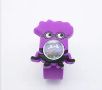 3D Eye Despicable Me slap watch minion Precious Milk Dad Montres pour enfants Slap Snap On Silicone Quartz Wrist Watch