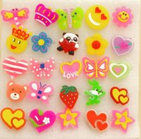 Wholesale Lighting Flashing Light Up LED Jelly Brooch Badge Toy For Kids Girls Halloween