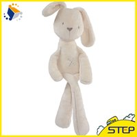 Wholesale Cheapest Plush Toy - Free Shipping 10pcs lot MaMas&papas Cute Bunny Rabbit Baby Soft Plush Toys Brinquedos 50CM White Cheapest Price Best Gift for Kids NTP001E