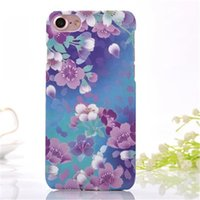 Wholesale Colorful Rose Painting - Colorful Painted Rose Peony Beautiful Fashion Flower Floral for iPhone 7 Plus Case For Iphone 7 Case Skin Back Cover Hard Plastic Case