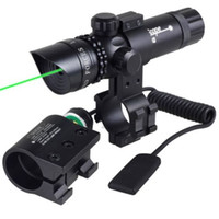 Cheap freeshipping-freeshipping - Adjuctatble Tactical Hunting Green Red Beam Laser Sight With Rail Mount 5mW Laser Emitter for Rifle Gun Free Shipping