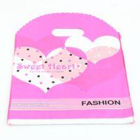 Wholesale Heart Shaped Plastic Bag - MIC Jewelry Pouches .200pcs Heart Shaped Plastic Bags Jewelry Gift Bag .18x25cm