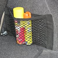 ingrosso reti magiche-Seggiolino auto posteriore Storage Mesh 40cm * 25cm Net Bag Holder Holder borsa da auto portatile elastico Strong Magic Tape Accessori