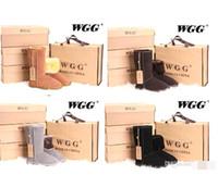 botas de vaquero negras al por mayor-Envío gratis 2016 de alta calidad WGG mujeres clásicas botas altas botas para mujer botas botas de nieve botas de invierno botas de cuero botas US SIZE 5 --- 13