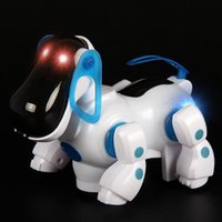 Lovely Robotic Dog Intelligent Toy Cute Electric Walking Music Sound Dog Toy avec flashing LED Light Fun Toy éducatif CCA7525 10pcs
