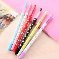 Wholesale Blue Bling Pen - 20pcs lot Cute Promotion Gift Gel Pen with bling Diamond Crystal Stationery Canetas escolar material School Supplies Free Shipping Papelaria