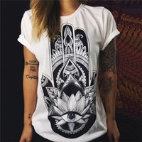 Wholesale Spandex Valentine - New Valentine Shirt 2016 Women T shirt Summer Tops Punk Rock Fashion Graphic O Neck Womens Tee Shirt Femme Camiseta Mujer