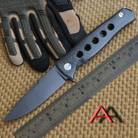 Wholesale dr tools for sale - Group buy BEAR head Mayo Russian Dr Death ball bearing Tactical Folding Knife D2 Titanium Carbon Fiber Camp Hunting Survival Knives Outdoor EDC Tools