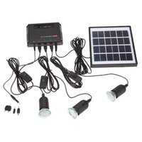Wholesale solar power panel usb for sale - Outdoor Solar Power Panel LED Light Lamp USB Charger Home System Kit Garden Path Camping lamp