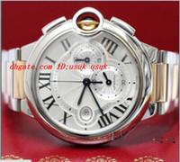 Wholesale Chrono Steel Pink - Luxury Watches BRAND NEW 44MM 2-Tone Pink Gold Steel Chrono Watch W6920075 Watch With BOX Men's Watches MAN WATCH Wristwatch