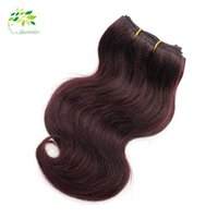 2016 Tendance Bob Short Hairstyle Bourgogne Brésilian Hair Bundles Body Wave 2 Pcs Bourgogne Weave 99j Grade 7a Vin Rouge Cheveux