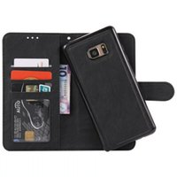 Wholesale Galaxy Retro Cases - Retro Wallet Leather Pouch Case For Iphone 7 Plus 8 IPhone8 Samsung Galaxy S8 Detachable Magnetic Card Photo TPU 2 in 1 hybrid Cover Luxury