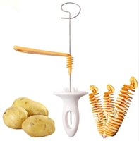 Delidge 1pc 3 cordes Rotation Trancheuse de pommes de terre Acier inoxydable + Plastique Twisted Batato Slice Cutter Spiral DIY Manual Creative