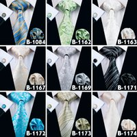 Wholesale Silk Floral Lavender - Men Paisley Fashion Neck Ties Silk Mix Jacquard Necktie High Quality Floral Mens Yam Dyed Classic Length Ties Free Shipping