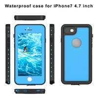 Wholesale new waterproof shockproof case iphone - NEW Waterproof Shockproof Dirt Snow Proof Durable Dot Case Cover for Apple iPhone 7 4.7'' 5.5'' 8 colors