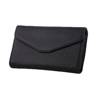 Wholesale Envelope Leather - S5Q Women's PU Leather Envelope Wallet Card Holder Handbag Phone Bag Long Purse AAAFUF