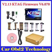 Wholesale Programme Ecu - Full Set KTAG V2.13 Unlimited Version High Quality K TAG Master ECU Programming Tool K-TAG Hardware V6.070 by DHL Free Shipping