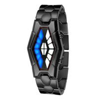 Wholesale Cobra Shape - Fashion Luxury Watches LED Bracelet Sport Watch Iron Man Women Retro Creative Cobra Snake Watches Lady Relogio Masculino Wristwatches