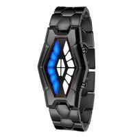 deporte señora hombres liderado al por mayor-Relojes de lujo de moda LED Pulsera reloj deportivo Iron Man Mujeres Retro Creative Cobra serpiente relojes Lady Relogio Masculino Relojes de pulsera