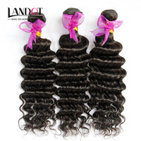 Peruvian Deep Wave Curly Virgem Cabelo Weave Bundles 3Pcs Lote Unprocessed Peruvian Deep Ondulado Curly Remy Cabelo Humano Extensões Natural Cor
