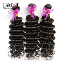 Wholesale Deep Wavy Remy Hair - Peruvian Deep Wave Curly Virgin Hair Weave Bundles 3Pcs Lot Unprocessed Peruvian Deep Wavy Curly Remy Human Hair Extensions Natural Color
