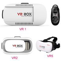Wholesale free google cardboard online - Google cardboard VR BOX II Version VR Virtual Reality D Glasses For inch Smartphone Bluetooth Controller DHL Free OTH161