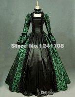 victorian partisi toptan satış-Gotik Victorian Party Gürcü Dönemi Elbise Steampunk Elbise Reenactment Tiyatro Sahne Kostümleri