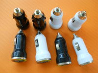 Wholesale bullet mini charger online – Dual USB Car Charger Adapter Bullet Car Charger Mini Colorful Car Charge Portable Charger Universal Adapter for Iphone Samsung DHL