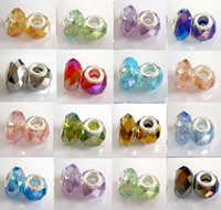 Wholesale Crystals For Low Price - 100pcs Lot mixed Plated AB Faceted Crystal Beads for Jewelry Making Loose Lampwork Charms DIY Beads for Bracelet Wholesale in Bulk Low Price