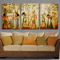 Wholesale Oil Painting Queen - Cleopatra Printed Ink Painting Gifts Egypt Queen Poster Televison Traditional Women Canvas Painting Background Home & Bedroom Decoration