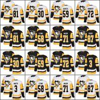 df8b7d0e5 2017-2018 Season 87 Sidney Crosby 81 Phil Kessel 71 Evgeni Malkin 59 Jake  Guentzel 30 Matt Murray Pittsburgh Penguins Hockey Jerseys Cheap