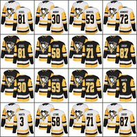 2017-2018 Temporada 87 Sidney Crosby 81 Phil Kessel 71 Evgeni Malkin 59 Jake Guentzel 30 Matt Murray Pittsburgh Penguins Hockey Jerseys Barato