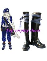 "Wholesale Make Bee Costume - Wholesale-Freeshipping Black 1 1 2"" Heel Tegami Bachi Noval Letter Bee Cosplay Shoes boots custom-made for Halloween Christmas festival"