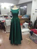 Wholesale Chinese Gown Images - High End Evening Dresses Burst Style Chinese Style Rretro And Simple Green Satin Cocktail Party Dresses Prom Dresses