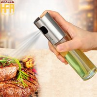 Wholesale Glass Shakers - 100Ml Oil Sprayer Stainless Steel Oil Sprayer Glass Bottles Glass Spray Bottle Barbecue Can Jar Pot Tool Can Pot Sprayers Kitchenware Tools