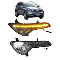 Estilo do carro LED Daytime Running Light Condução da luz Tampa da lâmpada de nevoeiro para KIA Sportage 2011-2014 led drl day light
