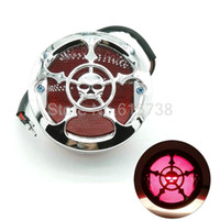 Wholesale chopper brake tail light - Chrome Skull Style License Plate Light Universal Motorcycle Rear Brake Stop Tail Light Lamp For Harley Bobber Chopper Cafe Racer