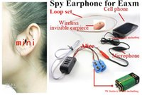 Wholesale Earpiece For Fbi Wireless - 1piece super Mini invisible micspy Earphone for FBI Wireless Hidden Cell Phone nano Earpiece covert Headphone